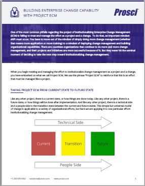Building Enterprise Change Capability with Project ECM